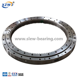 Internal gear single row ball slewing ring bearing for excavator